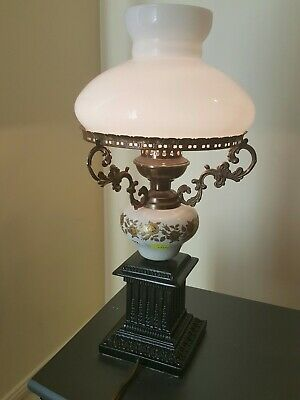 Lamp vintage electric  milk glass