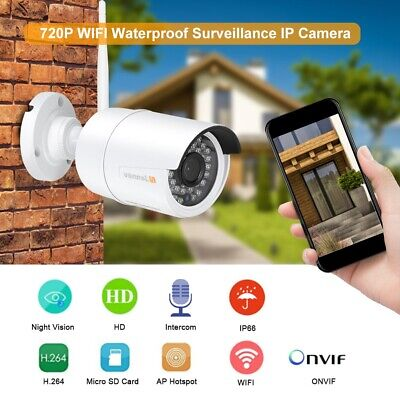 720P ONVIF WIFI Waterproof Camera Wireless Outdoor IP IP66 Camera Night Vision