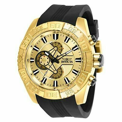 25998 Invicta Men Pro Diver Chrono 100m Gold Tone Stainless Steel/Silicone Watch