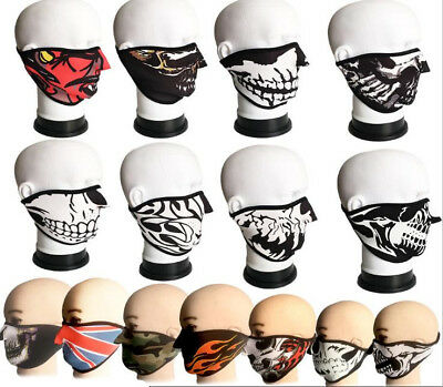 Warm Neoprene Anti Dust Motorcycle Bicycle Cycling Bike Ski Half Face Mask