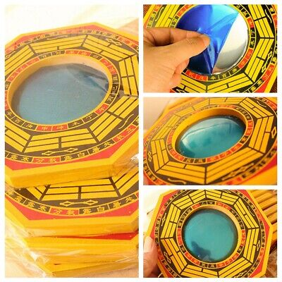 Chinese Feng Shui Dent Convex Bagua Mirror Blessing Lucky House Protection Hot