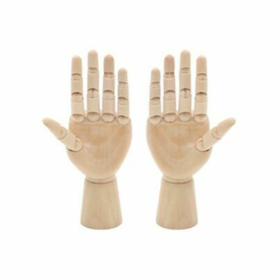 Wooden Right Left Hand Model Sketching Drawing Jointed Fingers Mannequin Artist
