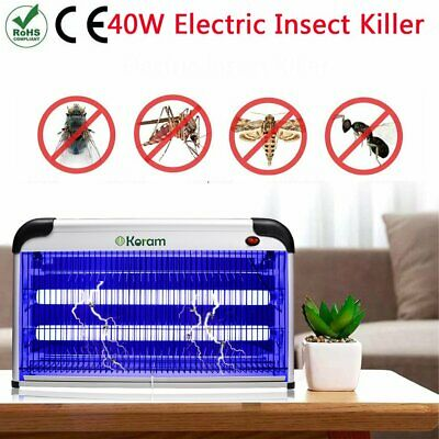 40W Electric UV Insect Killer Mosquito Fly Pest Bug Zapper Trap LED Light UK