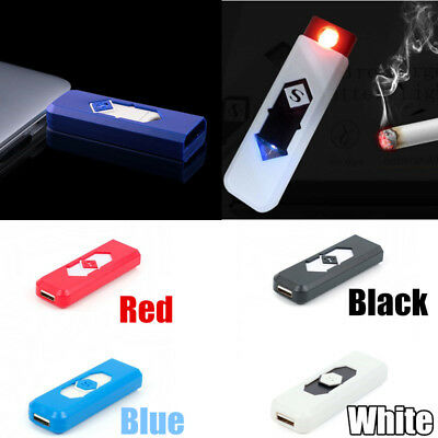 USB Flameless Lighter Rechargeable No Gas PC Lighter Men's Gift Electric