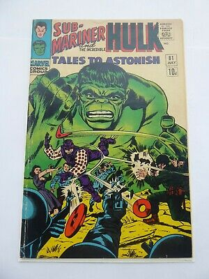 TALES TO ASTONISH #81_JULY 1966_VG+_HULK_SUB-MARINER_1st APP BOOMERANG!