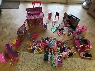 Barbie Bundle - Dolls, Vacation House, Vehicles Etc!