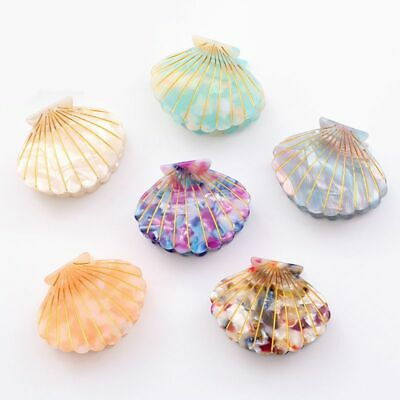Fashion Shell Hair Clip Acetate Resin Floral Print Grips Clips Ponytail Hairpins
