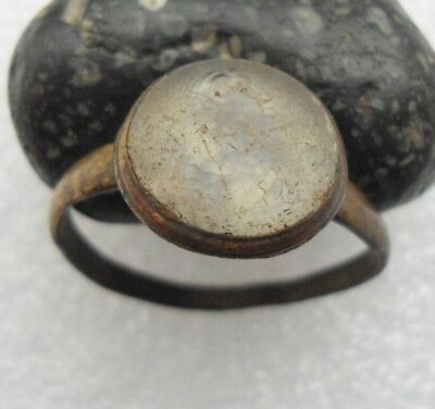 Ancient Roman Bronze Ring Intaglio Original Authentic Antique Rare