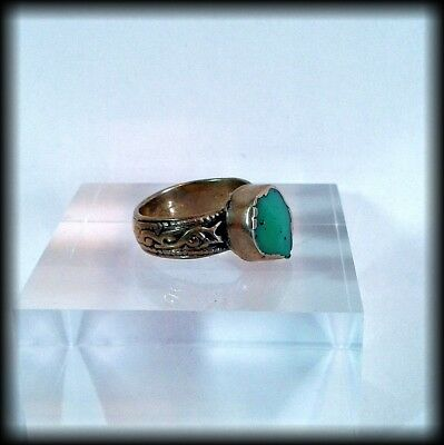 Antique Near Eastern Ring with Green Stone