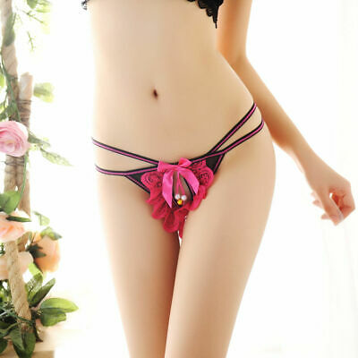 Women Sexy Lace G-String Panties Thongs Brief Knicker Underwear Strappy Hollowed
