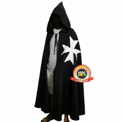 MEDIEVAL Knight Crusader TEMPLAR Middle Ages Mens SLEEVELESS TUNIC CLOAK