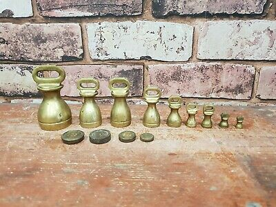 Selection Of Various Vintage Brass Bell Weights