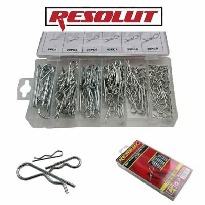 RESOLUT 150PC Assorted Retaining Pins Spring Clips R Type 9060