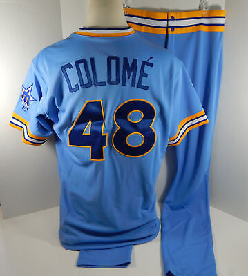 700fdbba27c 2018 Seattle Mariners Alex Colome  48 Game Used Blue 1979 TBTC Jersey Pants