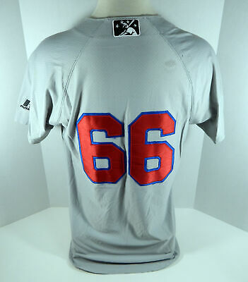 Buffalo Bisons #66 Game Used Grey Jersey