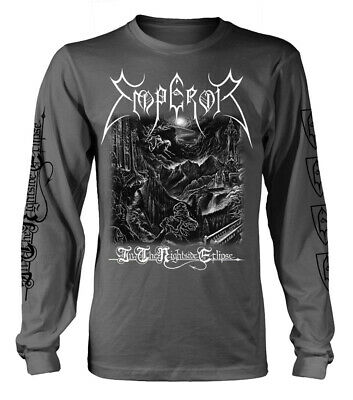 Emperor 'In The Nightside Eclipse' (Grey) Long Sleeve Shirt - NEW & OFFICIAL!
