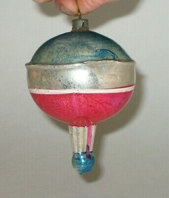 German Antique Glass Patriotic Vintage Christmas Ornament Decoration 1930's