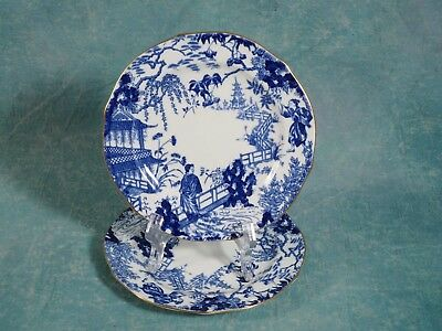 Royal Crown Derby Mikado Blue Salad Dessert Plate Blue Bone china