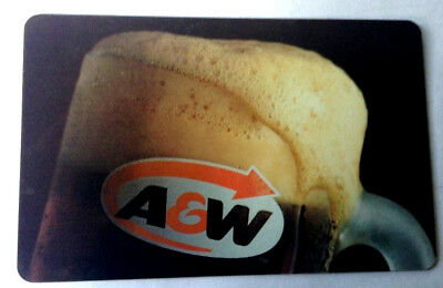 A&W CANADA RESTAURANT GIFT CARD ROOT BEER logo NO VALUE RECHARGEABLE mug