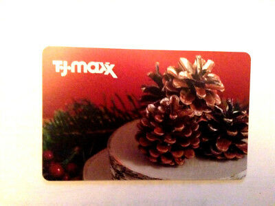 T.j.maxx X-Mas Limited Gift Card Rechargeable No Value