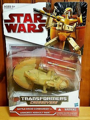 Star Wars Transformers Crossovers Battle Droid Commander to AAT 2009 MOSC