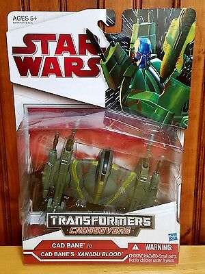 Star Wars Transformers Crossovers Cad Bane to Xanadu Blood 2009 MOSC