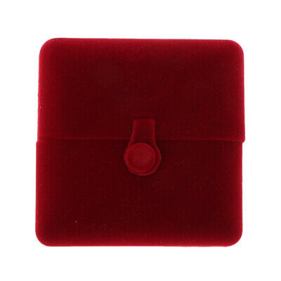 Wine Red Double Open Soft Velvet Gift Box for Luxury Jewelry Various Styles