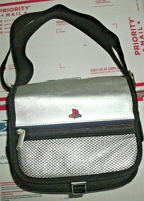 Sony Silver PlayStation 1 Mini Official Carrying Case Travel Bag Shoulder Strap