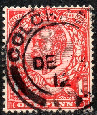 1912 Sg 345 N12/1 1d scarlet Simple Cypher Used Colchester Double Circle cancel