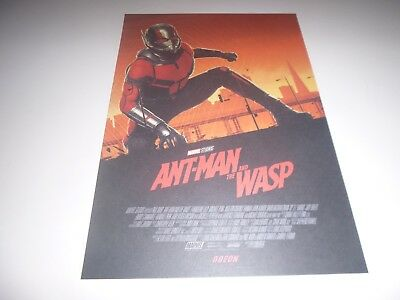 Ant Man and The Wasp Odeon Exclusive Poster 1 A4 size Marvel Avengers