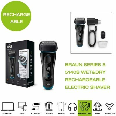 *Brand New* Braun Series 5 5140S Rechargeable Wet&Dry Electric Shaver - Black