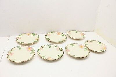 Lot (7) Franciscan Desert Rose Saucer Bread Plate Dishes Handpainted California