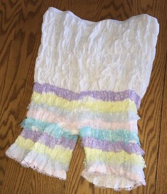 Vintage MALCO MODES Partners Please BLOOMERS Ruffled Sissy Pettipant PANT L