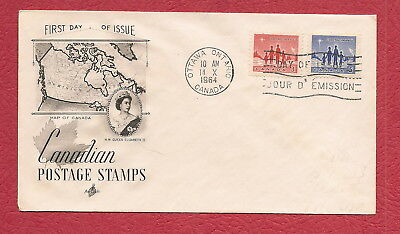 1964 Canada First Day Cover..( 3 & 5 cent)... 'Canadian Postage Stamp'