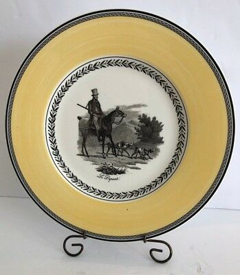 "8 Villeroy & Boch Germany Audun Chasse 10 3/4"" Le Depart Dinner Plate unused"