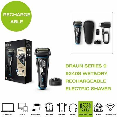 *Brand New* Braun Series 9 9240S Rechargeable Wet&Dry Electric Shaver - Black