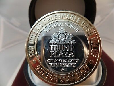 Trump Plaza Atlantic City 999 Fine Silver Hollywood Clasic's Casino Token