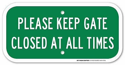 """Keep Gate Closed At All Times Sign, 6""""X12"""",  .080 3M EGP Reflective Aluminum"""