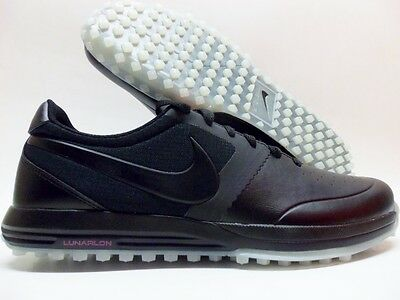 low priced 63fab ae298 Nike Lunar Mont Royal Golf Shoes Spikeless Black white Size Men s 9  652530-