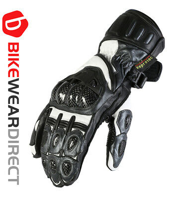 Leather Motorbike Motorcycle Biker Gloves Grey CE Armoured Vented Texpeed