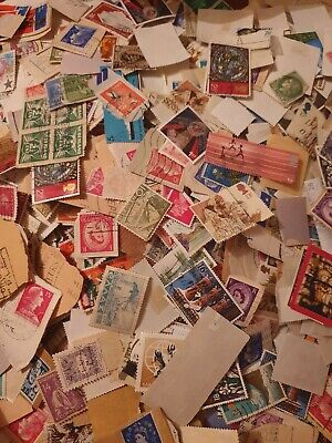 VINTAGE joblot collection of 100 stamps Random Collect  Stamps Rare