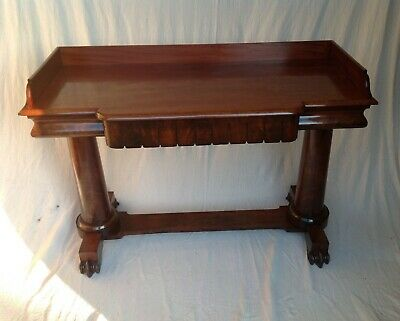 ANTIQUE WILLIAM IV (c 1820) MAHOGANY BREAK FRONT SIDE/HALL TABLE