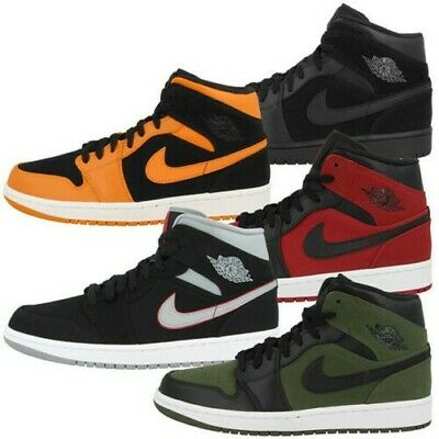separation shoes 44f35 bfe17 Nike Air Jordan 1 Mid Chaussures Homme Baskets Montantes Loisir Basketball