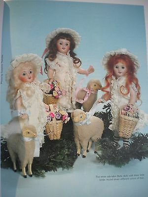 """All Bisque ANTIQUE French Mignonette 7.5"""" Doll dress pattern +  vintage article"""