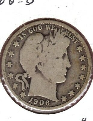 1906-D Barber Half Dollar Grades Nice Very Good You Can Buy It Today #c348