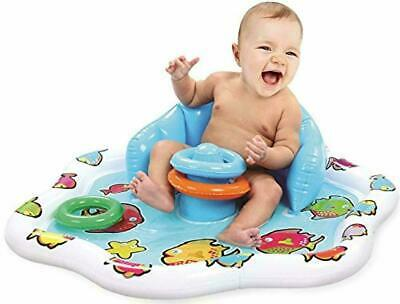 Inflatable Splash Baby Play Mat - Baby Water Mat with Stacking Rings