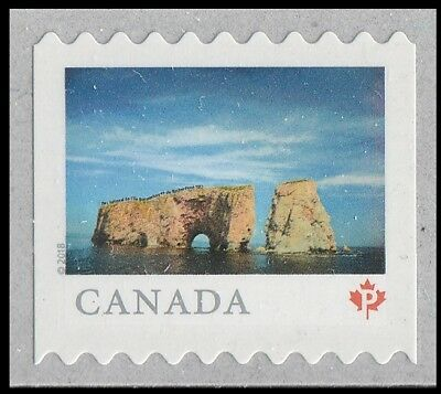 Canada 3060 Far & Wide Percé Rock 'P' single (from coil of 5000) MNH 2018
