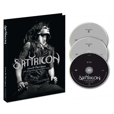 SATYRICON Live at the Opera NEW DIGIPAK 2CD+DVD Black Metal emperor mayhem taake