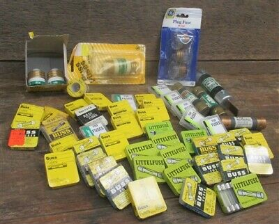 Lot Assorted Fuses Plug Buss GE Littelfuse Redi Arts Crafts Hardware Vintage