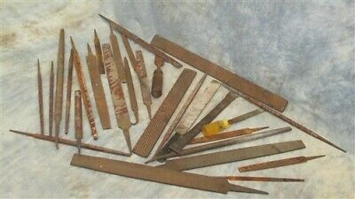 Lot Assorted Machinist Mechanic Metal Craft File Rasp Woodworking Vintage Tool a